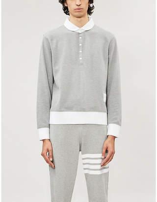 Thom Browne Contrast-trims cotton polo shirt