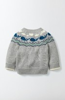 Infant Boy's Mini Boden Whales Sweater
