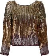 Rixo ombre sequin blouse