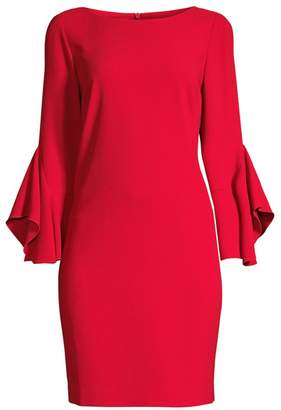 Elie Tahari Dori Drape-Sleeve Sheath Dress