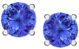 Swarovski Silver-Tone Crystal Stud Earrings