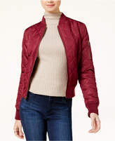 Maralyn and Me Juniors' Diamond-Quilted Bomber Jacket