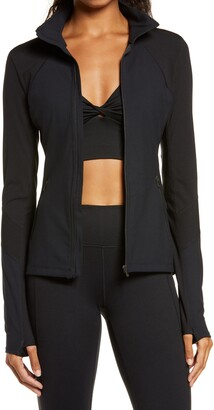 Zella Studio Lite Ribbed Detail Track Jacket