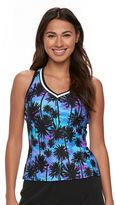 ZeroXposur Women's Tropical Racerback Tankini Top