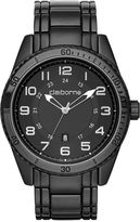Claiborne Mens Black Strap Sport Watch