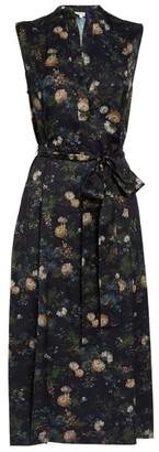 Vince Rose Field Midi Dress