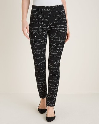 Chico's Script-Print Pull-On Jeggings