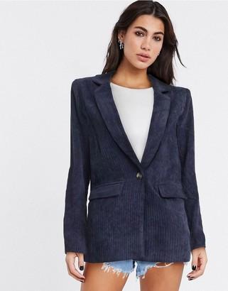 Y.A.S Sussi oversized blazer in dark blue