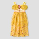 Belle Toddler Girls' Fantasy Gown Nightgown -Yellow