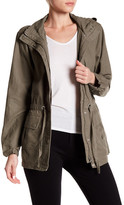 Canvas by Lands' End Canvas by Lands& End Linen Blend Military Jacket