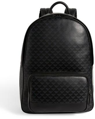 Emporio Armani Eagle Logo Print Backpack