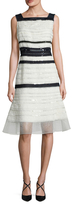Carolina Herrera Silk Sequin A-Line Dress