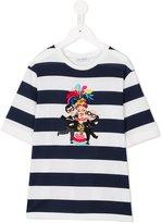 Dolce & Gabbana striped Family Patch T-shirt