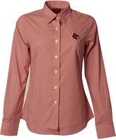 Antigua Women's Long-Sleeve Louisville Cardinals Focus Collar Shirt