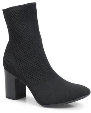 Børn Meggs Knit Block Heel Sock Boot