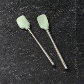 Crate & Barrel Pistachio Green Mini Spatulas, Set of 2