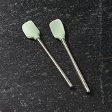 Crate & Barrel Pistachio Green Mini Spatulas Set of Two