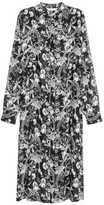 H&M Patterned Shirt Dress - Black floral - Ladies