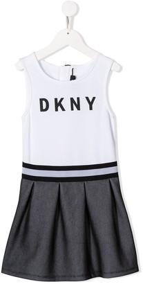 DKNY Printed Logo Dress