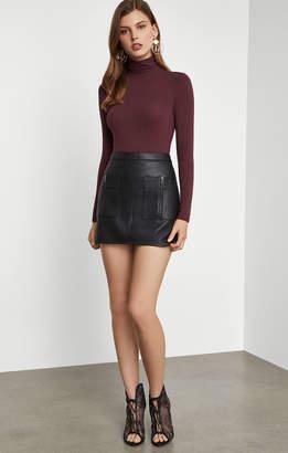 BCBGMAXAZRIA Sabina Faux-Leather Miniskirt