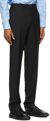 Ermenegildo Zegna Black Wool Dress Trousers