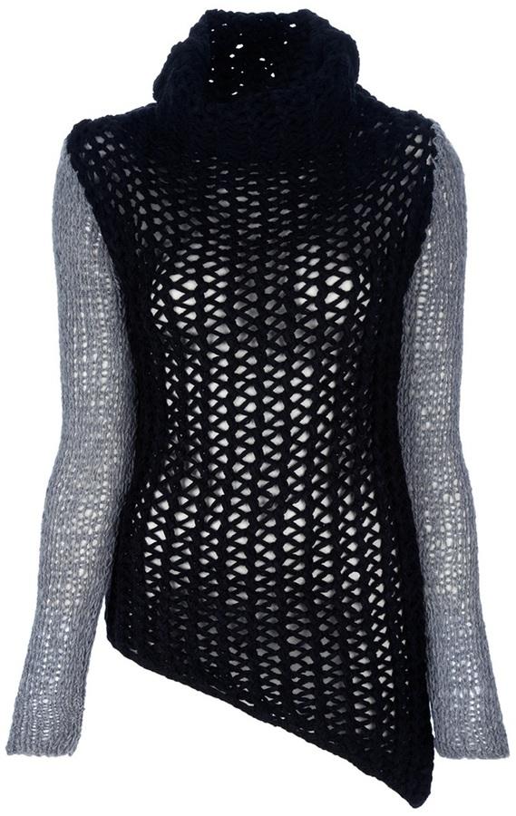 Helmut Lang 'Tattered Tape' sweater