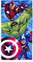 "Marvel Avengers Classic Charging Assembly Plush Beach/Bath Towel, 28"" by 58"""