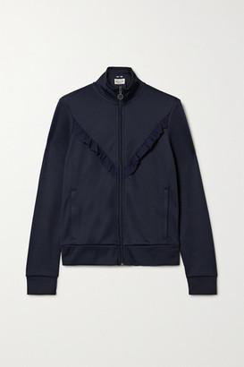 Tory Sport Ruffled Stretch-knit Track Jacket - Navy