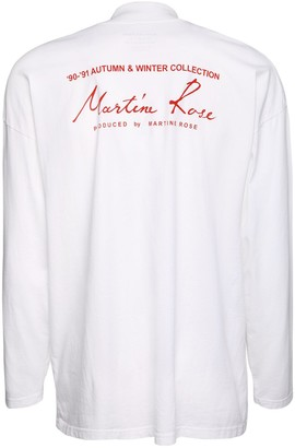 Martine Rose Season Logo Print Jersey Mock Ls T-Shirt