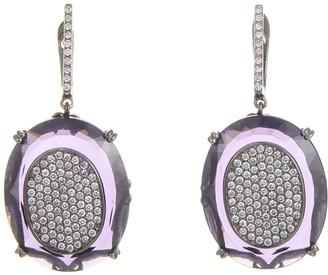Generic Gemstones 18K 1.37 Ct. Tw. Diamond & Amethyst Earrings