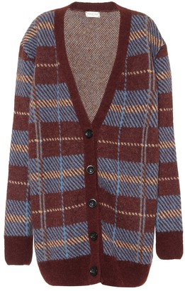 Dries Van Noten Checked alpaca-blend cardigan