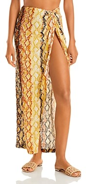 L-Space Mia Printed Cover Up Skirt