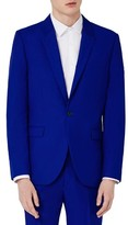 Topman Men's Blue Skinny Fit Suit Jacket