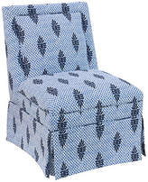 One Kings Lane Greer Skirted Slipper Chair - Medallion