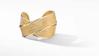 David Yurman Dy Origami Large Crossover Cuff Bracelet In 18K Yellow