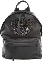 Chiara Ferragni Flirting Eye Crystal-embellished Faux-leather Backpack