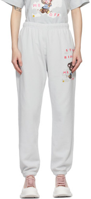Marc Jacobs Grey Magda Archer Edition Stop Ripping Me Off Lounge Pants