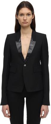 Rick Owens Wool Blend Jacket W/ Shiny Details