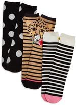Kate Spade Crew Socks, Set of 3