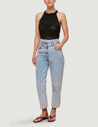 Whistles Acid wash straight-leg high-rise jeans