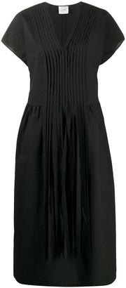 Alysi front pleat tassel detail dress