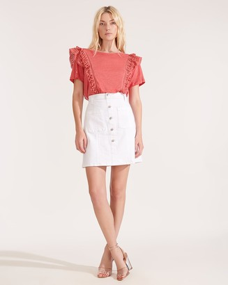 Veronica Beard Deena Patch-Pocket Skirt