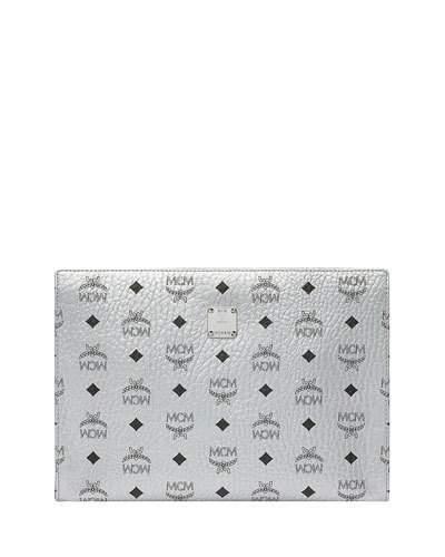 MCM Visetos Original Pouch Clutch Bag