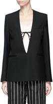 Acne Studios 'Amey Struct' V-neck blazer top