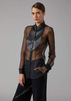 Giorgio Armani Silk Tuxedo Shirt