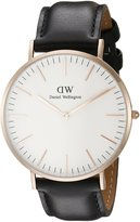 Daniel Wellington Men's Black/ Leather Watch
