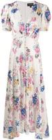 Saloni floral print flared dress
