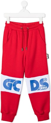 Gcds Kids TEEN logo-print track pants