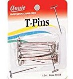 Annie T-Pins for pinning wigs on foam head
