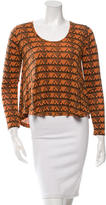 Torn By Ronny Kobo Bi-Color Printed Top
